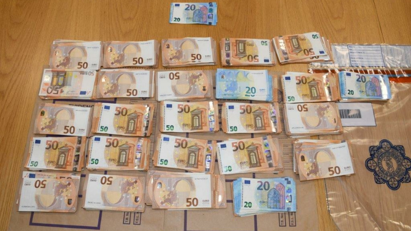 During           the course of the search gardaí seized around€100,000 in           cash