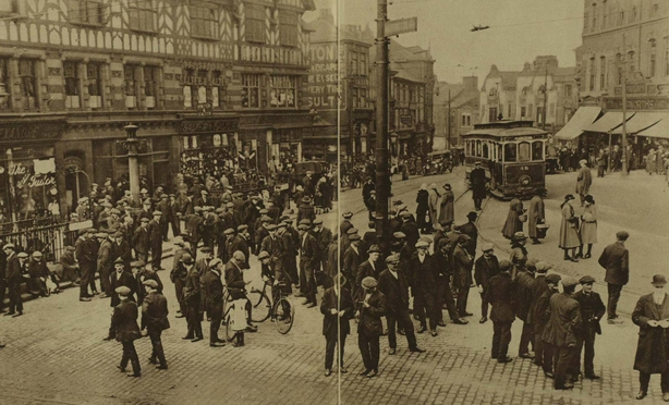 Wigan miners on strike Photo: Illustrated London News, 9 April 1921