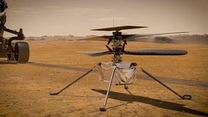 An illustration by NASA of the Ingenuity Mars Helicopter