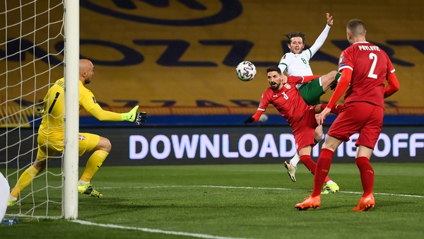 Alan Browne opened the scoring against Serbia