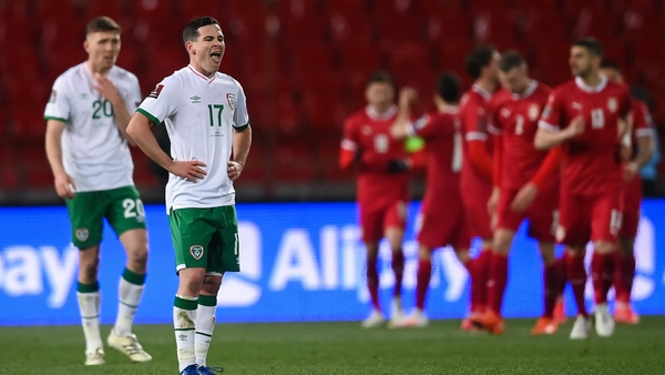 Ireland scored twice but left Serbia with no points from their opening World Cup qualifier