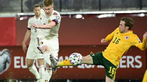 Kevin De Bruyne scores Belgium's equaliser