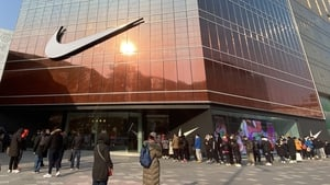 Nike's flagship store on Wangfujing Street in Beijing