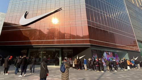Nike's flagship store on Wangfujing Street in Beijing
