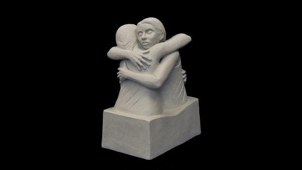 'The Hug' sculpture was created during the first lockdown last year
