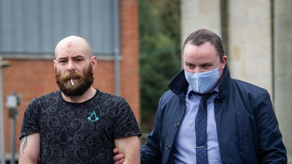 Seamus Treanor (L) was brought before Cavan District Court today