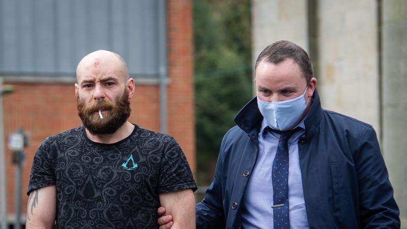 Seamus           Treanor (L) was brought before Cavan District Court today
