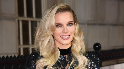 Helen Flanagan (pictured in 2017) - Welcomed son on her fiancé's birthday