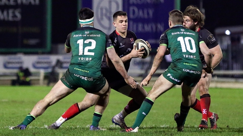 James Hume of Ulster in action against Connacht back in December