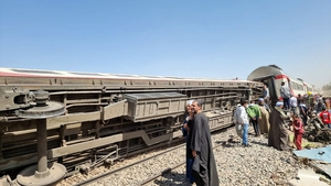 32 people feared dead and 160 injured in a two train collision in Egypt