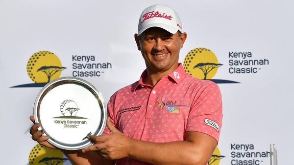 Daniel van Tonder poses with the trophy