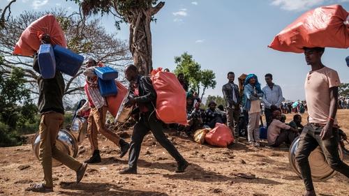People fleeing from violence in the Metekel zone