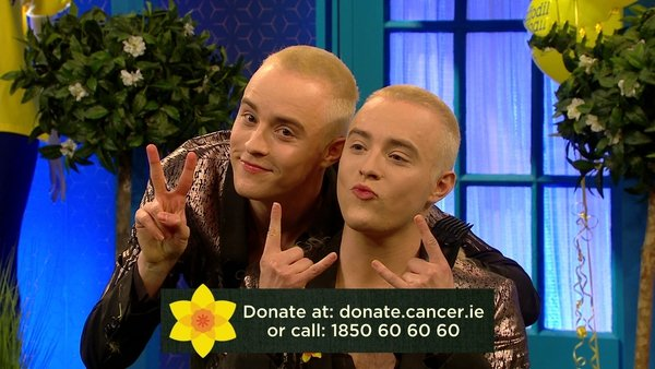 Jedward shaved their heads on last night's Late Late Show