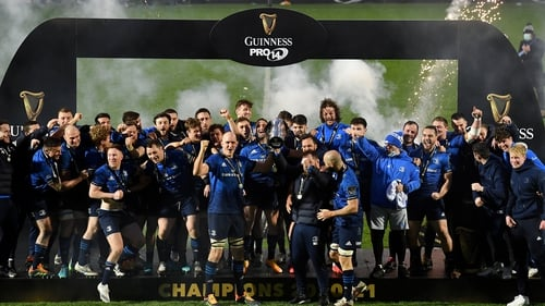 Leinster celebrate their eighth Pro14 title