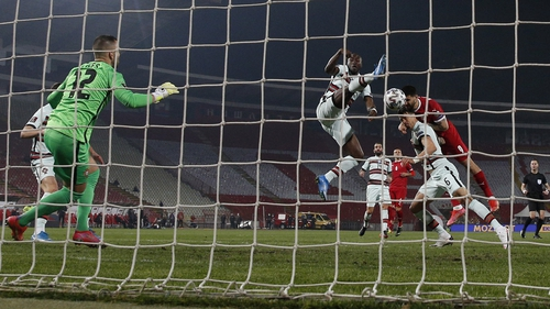 Aleksandar Mitrovic got Serbia back into the game with a header just after the restart