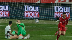 Filip Kostic celebrates his leveller for Serbia