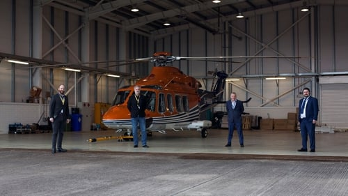 A Leonardo AW139helicopter will be based at the airport