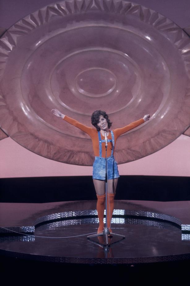 Monique Melsen representa a Luxemburgo en el Festival de Eurovisión (1971)