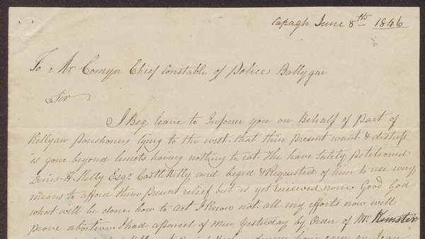 Detail of the letter
