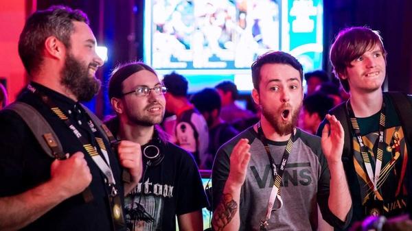 Irish gamers at the Celtic Throwdown event