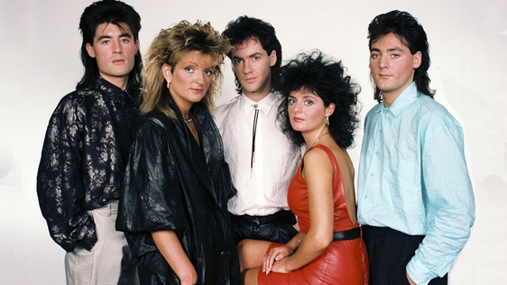 Luv Bug in a Eurovision publicity shot, 1986.