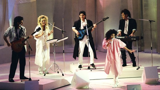 Luv Bug perform at the 31st Eurovision Song Contest in 1986