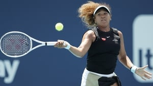 Naomi Osaka landed just 41% of her first serves in her defeat to Maria Sakkari