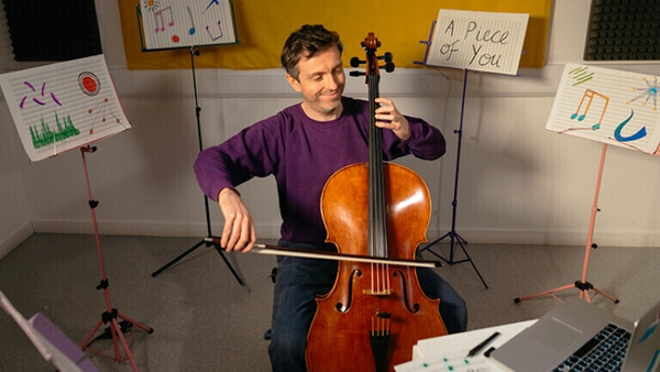 In A Piece of You, inventive Scottish cellist Greg Sinclair performs special concerts for one family at a time