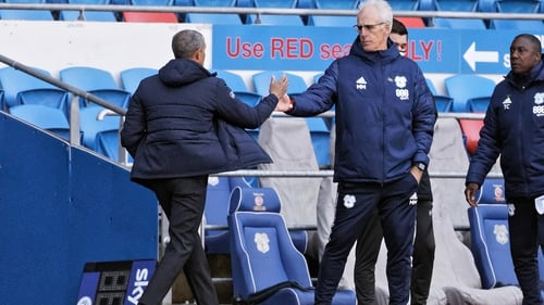 Former Ireland team-mates Chris Hughton and Mick McCarthy met in the Championship on Friday.
