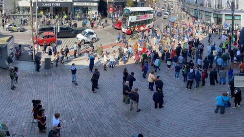 People marchedfrom the National Monument on Grand Parade to Patrick Street