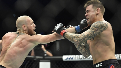 Conor McGregor was stopped by Dustin Poirier in January