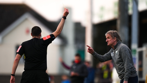 Ollie Horgan will not be on the touchline for three games