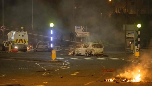 PSNI officers injured in 'senseless' attacks