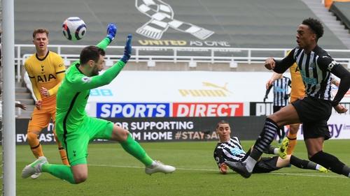 Joe Willock scored a late equaliser for Newcastle
