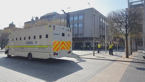 Gardaí were deployed on O'Connell Street and around the GPO