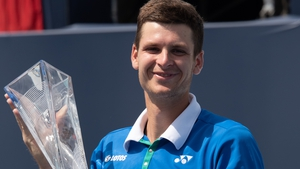 Hubert Hurkacz will move up to 16 in the world rankings on Monday