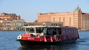 Venice public waterbus 'Vaporetto' used as a Covid-19 vaccination hub for residents