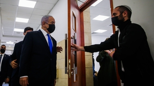Israeli Prime Minister Benjamin Netanyahu arrives at Jerusalem District Court