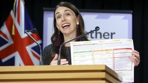Jacinda Ardern said the travel bubble would begin in two weeks' time