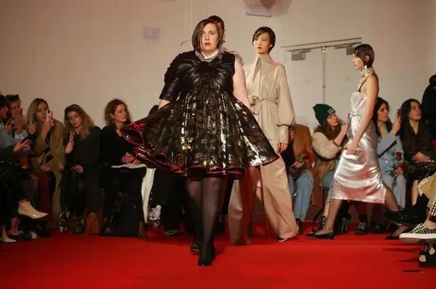 Dunham on the 16Arlington catwalk (Isabel Infantes/PA)