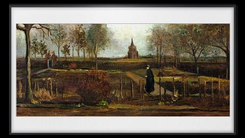 Van Gogh's 'Parsonage Garden at Nuenen in Spring' was stolen from the Singer Laren Museum near Amsterdam on 30 March last year
