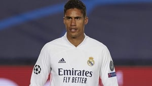 Rapahel Varane is outof the first leg against Liverpool