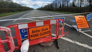 The road is closed and local diversions are in place