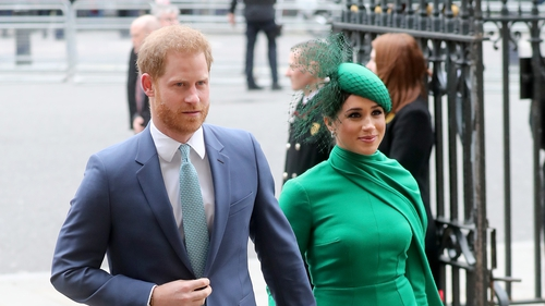 Britan's Prince Harry and Meghan