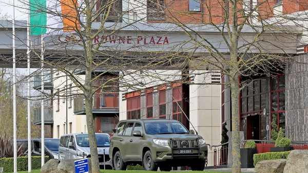 The Crowne Plaza hotel is a designated quarantine facility (file image)
