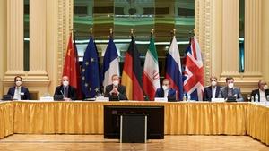 EU and Iranian representatives at the talks in Vienna