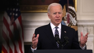 Joe Biden said the vaccine programme in the US 'is in overdrive'