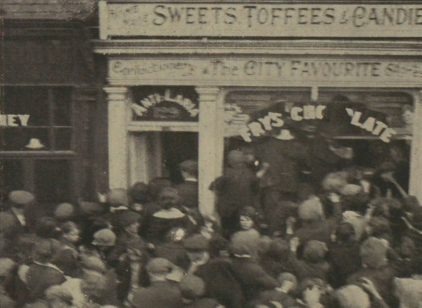 Century Ireland 202 - Confectionary shop on the nationalist Kashmir Road attacked by rioters during the violence in Belfast in July 1920 Photo: Illustrated London News [London, England], 31 July 1920