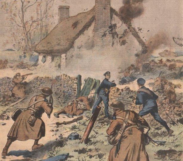 Century Ireland Issue 202 - Crown forces attack a farm occupied by Sinn Féiners. Photo: Le Petit Journal, 5 December 1920