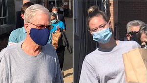 Molly and Thomas Martens leaving jail